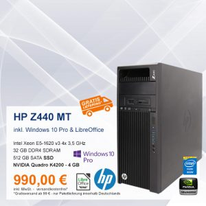Top-Angebot: HP Z440 MT nur 990 €