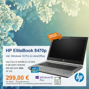 Top-Angebot: HP EliteBook 8470p nur 299 €
