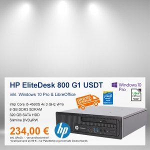 Top-Angebot: HP EliteDesk 800 G1 USDT nur 234 €