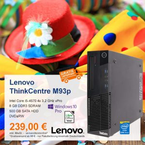 Top-Angebot: Lenovo ThinkCentre M93p nur 239 €