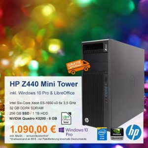 Top-Angebot: HP Z440 Mini Tower nur 1.090 €