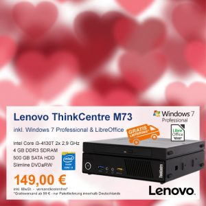 Top-Angebot: Lenovo ThinkCentre M73 Tiny nur 149 €
