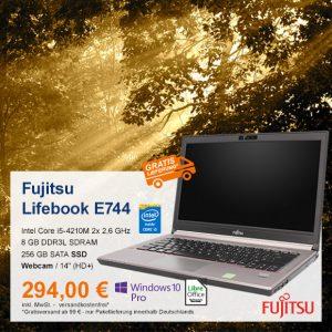 Top-Angebot: Fujitsu LifeBook E744 nur 294€