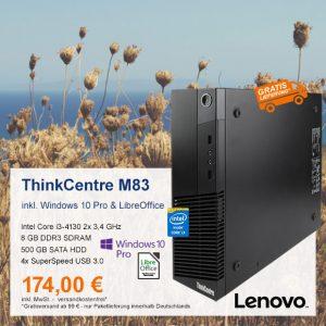Top-Angebot: Lenovo ThinkCentre M83 nur 174 €
