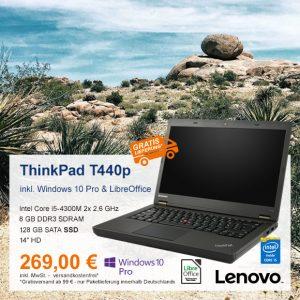 Top-Angebot: Lenovo ThinkPad T440p nur 269 €