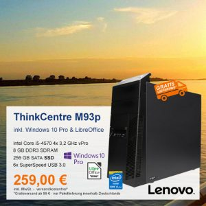 Top-Angebot: Lenovo ThinkCentre M93p nur 259 €