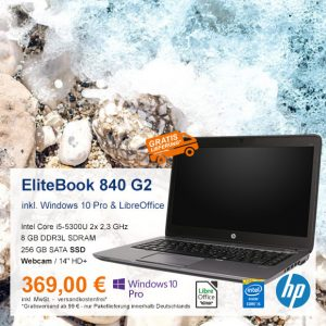 Top-Angebot: HP EliteBook 840 G2 nur 369 €
