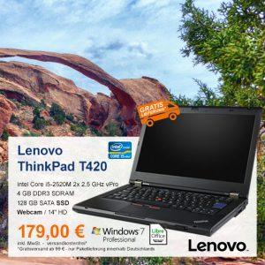 Top-Angebot: Lenovo ThinkPad T420 nur 179 €