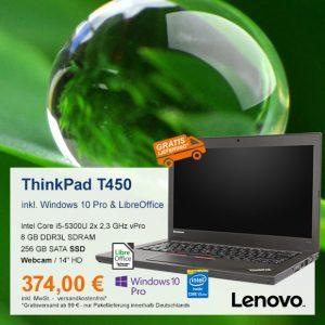 Top-Angebot: Lenovo ThinkPad T450 nur 374 €