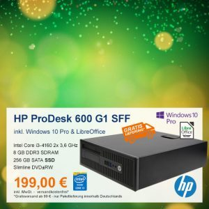 Top-Angebot: HP ProDesk 600 G1 SFF nur 199 €