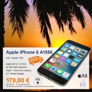 Top-Angebot: Apple iPhone 6 A1586 nur 179 €