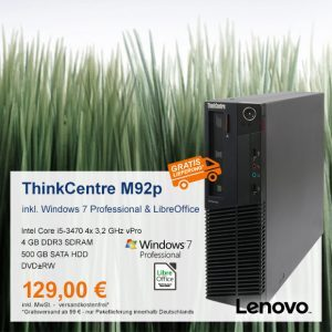 Top-Angebot: Lenovo ThinkCentre M92p nur 129 €