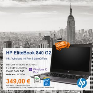 Top-Angebot: HP EliteBook 840 G2 nur 349 €