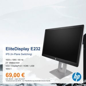 Top-Angebot: HP EliteDisplay E232 nur 69 €