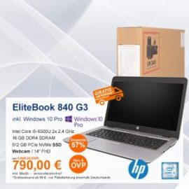 Top-Angebot: HP EliteBook 840 G3 nur 790 €